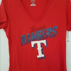Genuine Merchandise Texas Rangers L Red Womens